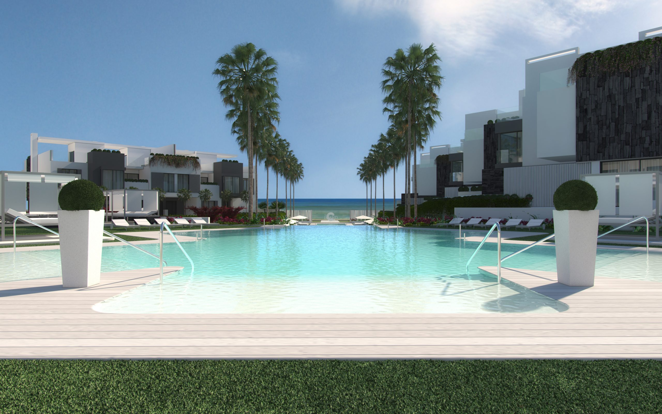 Innovative front line beach Project - exclusively-designed luxury 3,4,5 bedrooms townhouses,